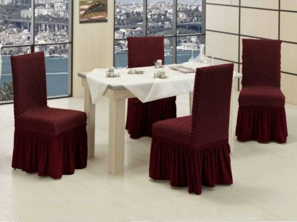 Чехлы на стулья VIP двойные соты Бордо
