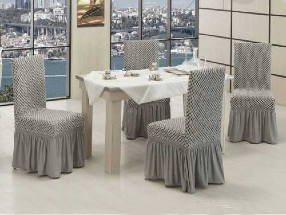 Чехлы на стулья VIP двойные соты Крем