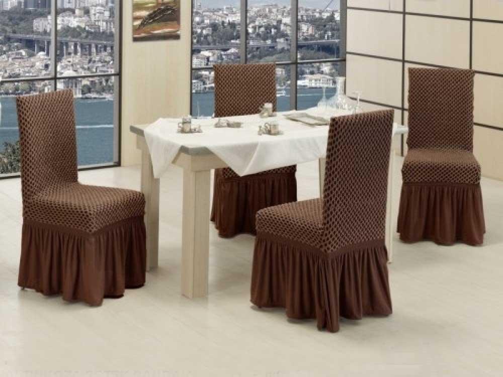 Чехлы на стулья VIP двойные соты Шоколад