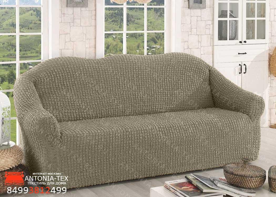Чехол на диван без оборки Хаки