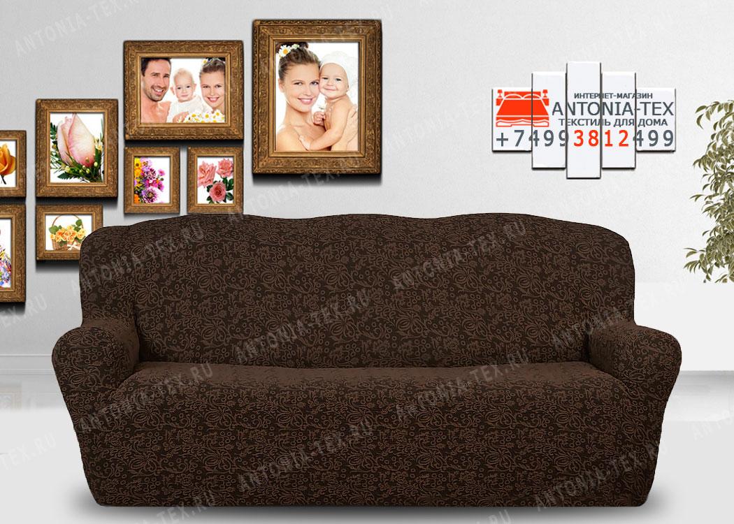 Чехол на диван Karteks буклированый жаккард без оборки WILDBERRIES-01