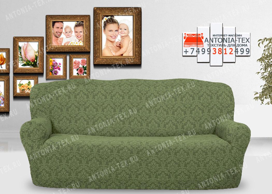 Чехол на диван Karteks буклированый жаккард без оборки DIADEMA-01