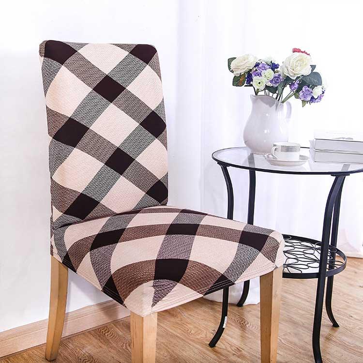 Чехол на стул эластичный с рисунком без оборкиЧарли