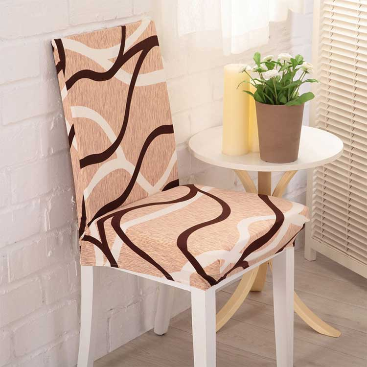 Чехол на стул эластичный с рисунком без оборкиКармен