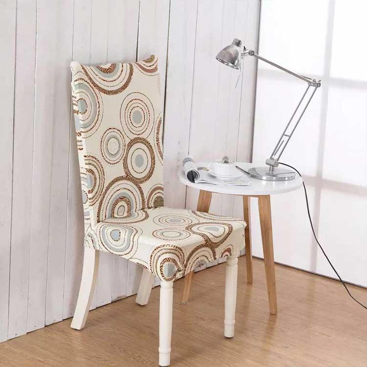 Чехол на стул эластичный с рисунком без оборкиСофия