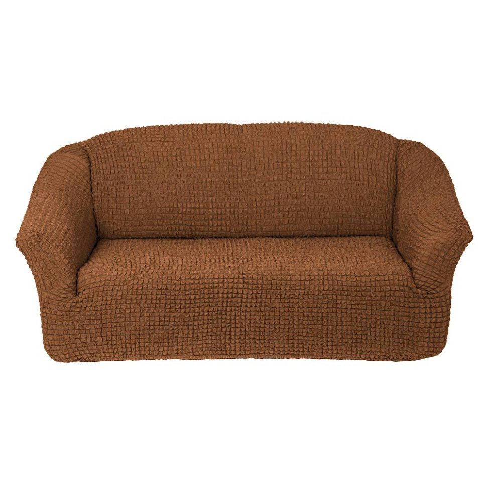 Чехол на диван без юбки на резинке, цвет Коричневый