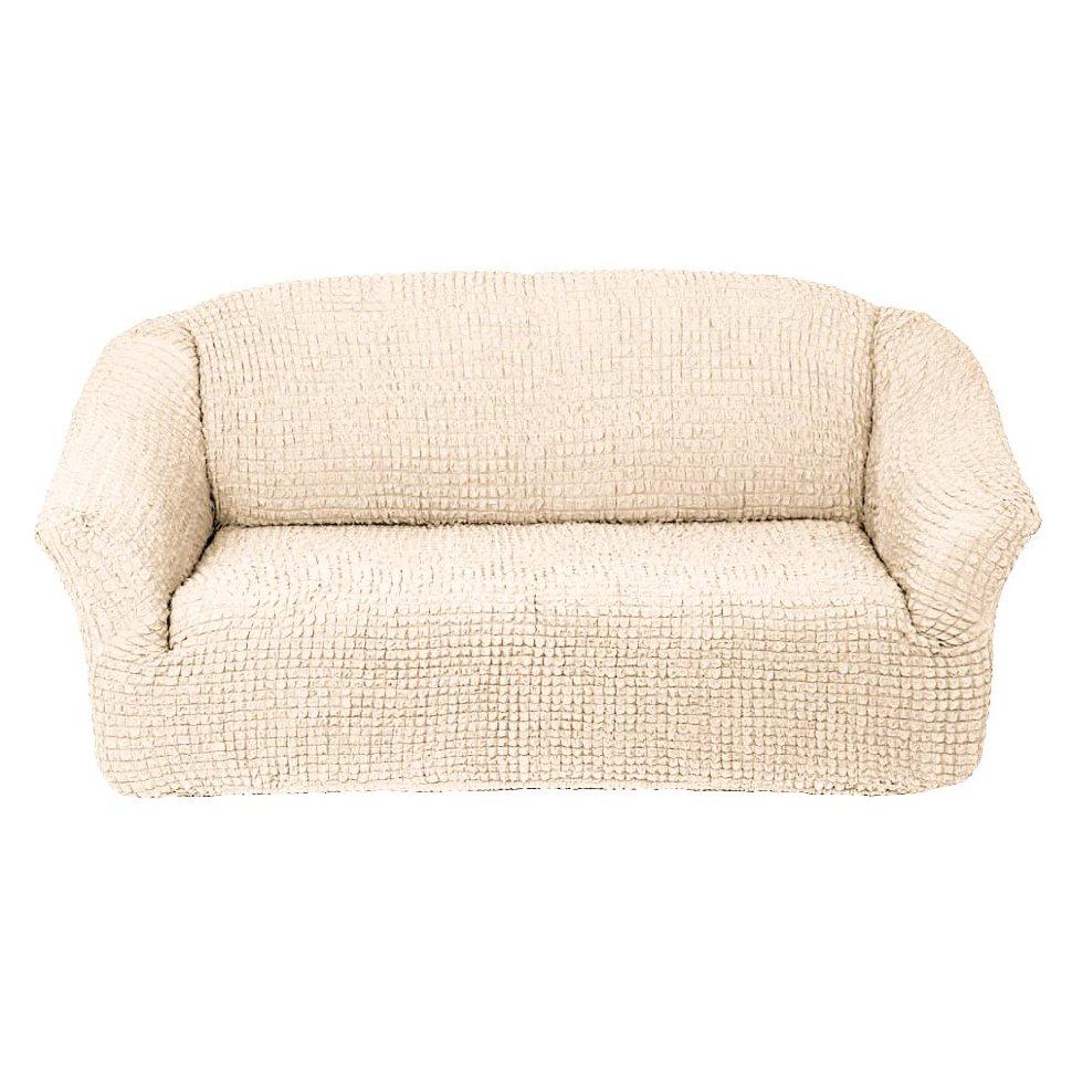 Чехол на диван без юбки на резинке, цвет Шампань