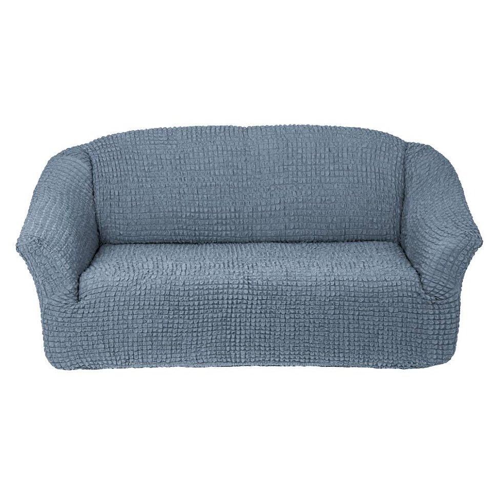 Чехол на диван без юбки на резинке, цвет Светло-серый