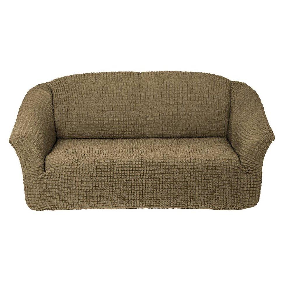 Чехол на диван без юбки на резинке, цвет Темно-оливковый