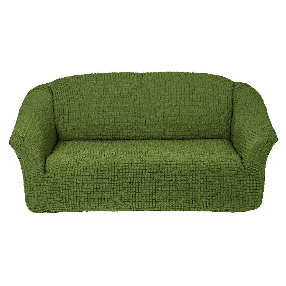 Чехол на диван без юбки на резинке, цвет Изумруд