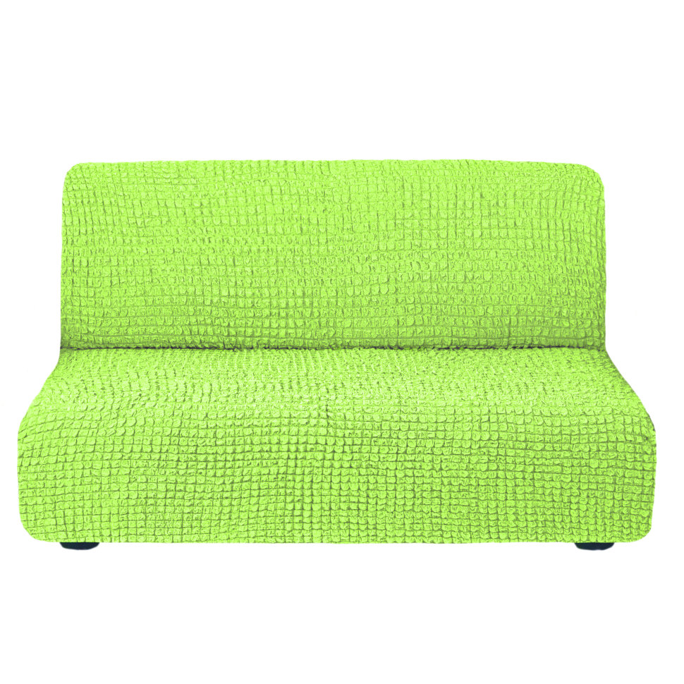 Чехол на диван без подлокотников на резинке, цвет Салатовый