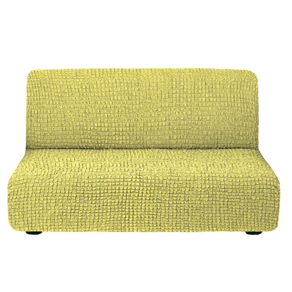 Чехол на диван без подлокотников на резинке, цвет Фисташковый