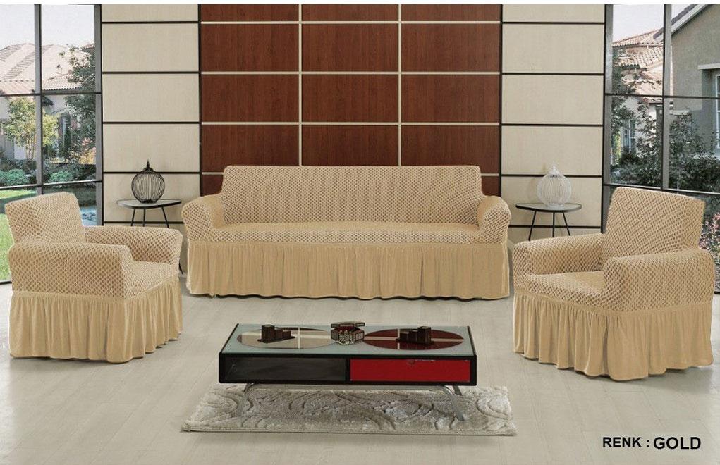 Чехол на трехместный диван и 2 кресла Altinkoza Gold