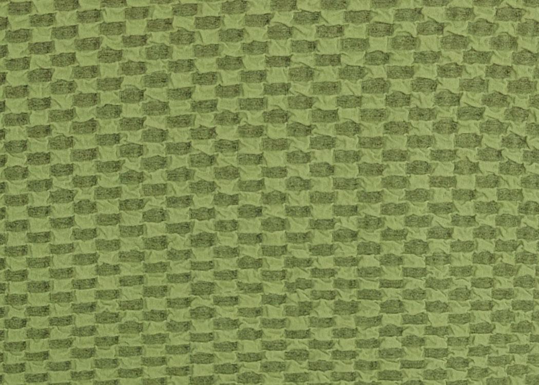 Чехол на трехместный диван и 2 кресла Соты Зеленый