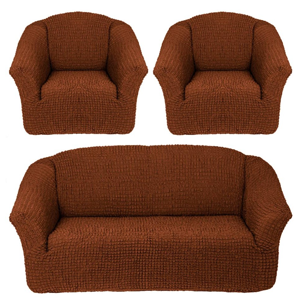 Чехлы на диван и кресла без юбки Темно-рыжий