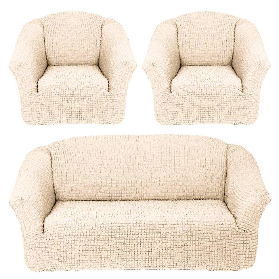 Чехлы на диван и кресла без юбки Шампань