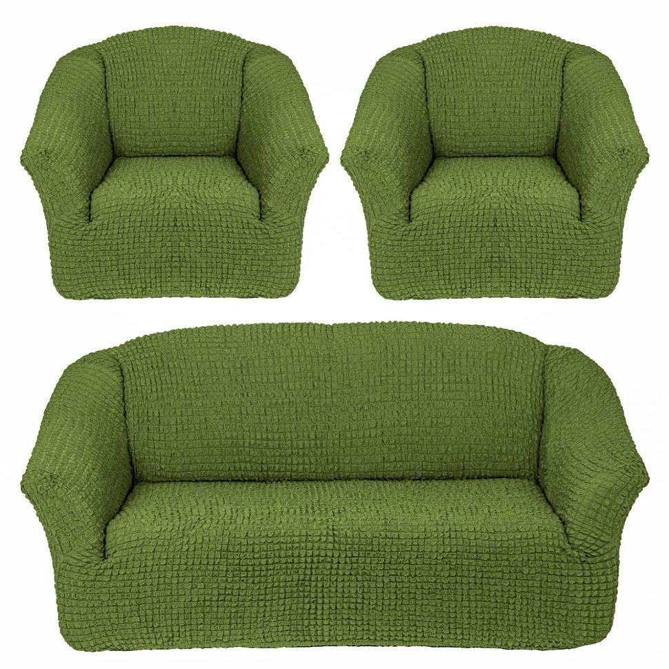 Чехлы на диван и кресла без юбки Зеленый