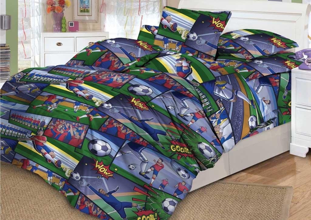 Детское постельное белье Valtery DL-14 Комикс футбол