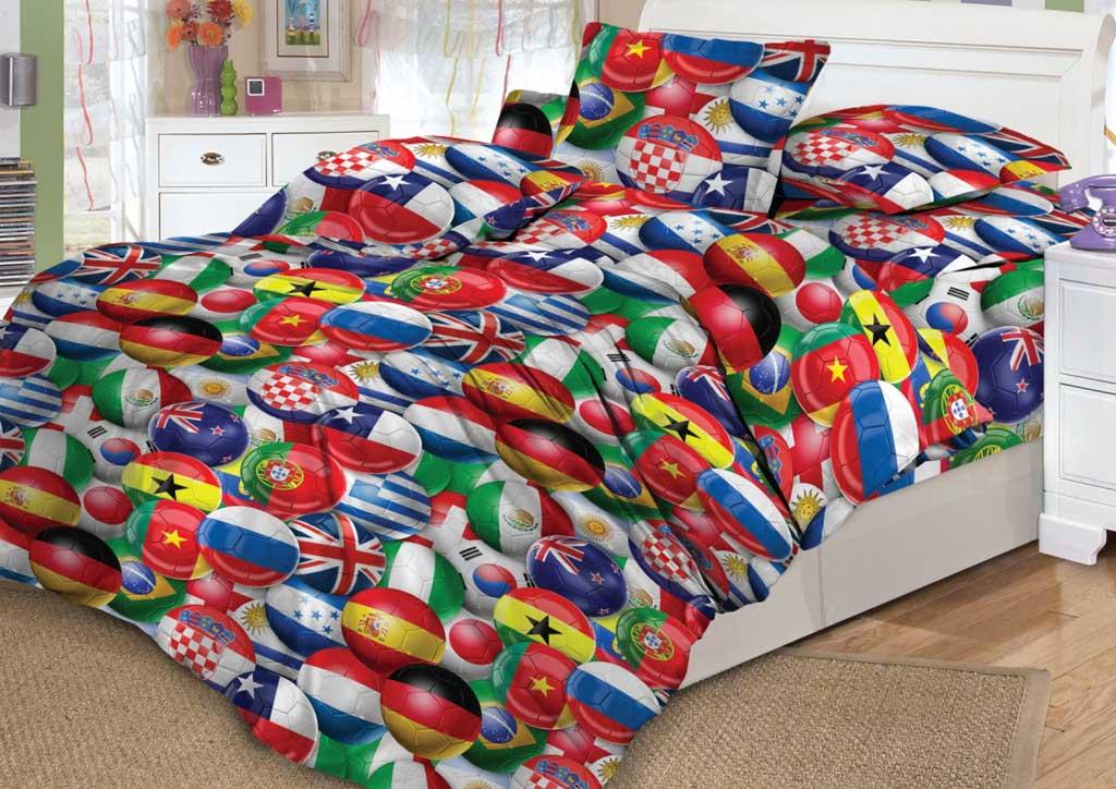 Детское постельное белье Valtery DL-15 Красный футбол