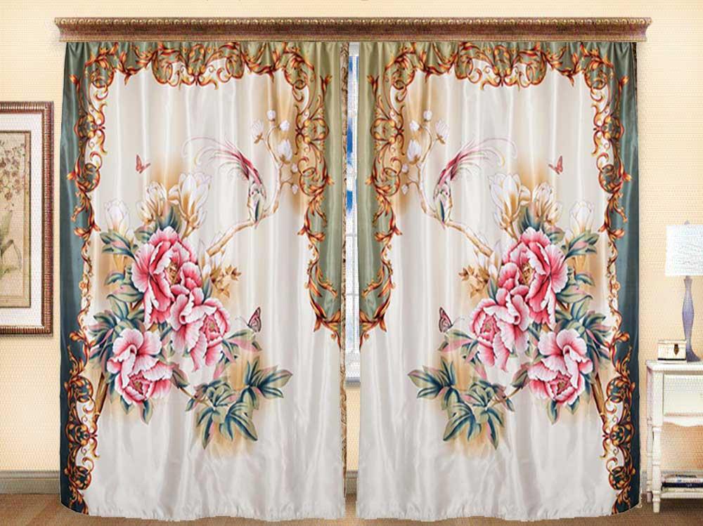 Комплект штор из иск. шелка I.M.A Райский сад