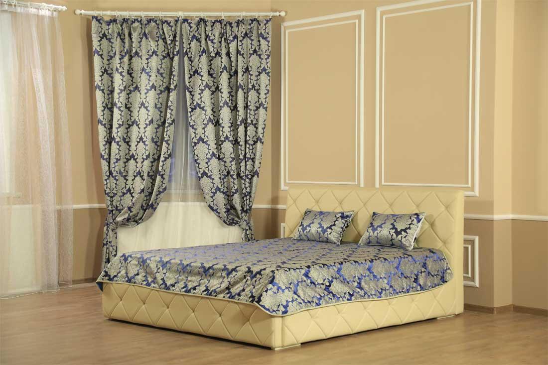 Комплект шторы с покрывалом Сапфир
