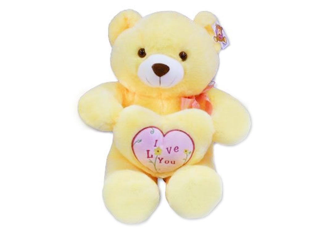 Медведь Лимончик с сердцем муз.