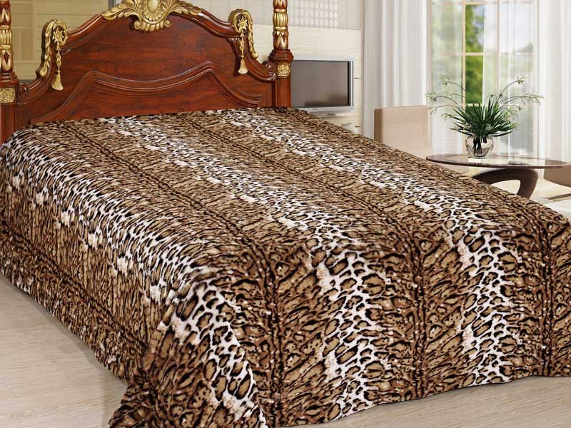 Меховой плед шкура леопарда