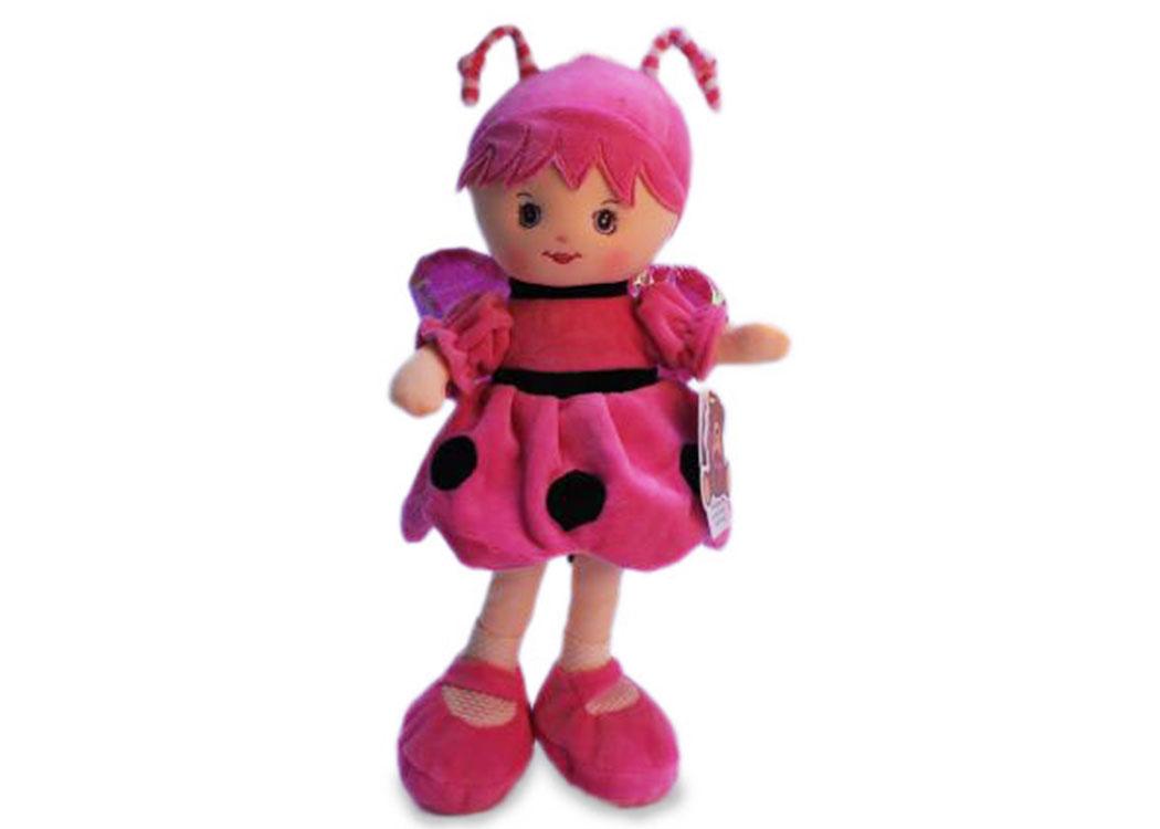 Мягкая кукла пчелка в розовом платье муз.