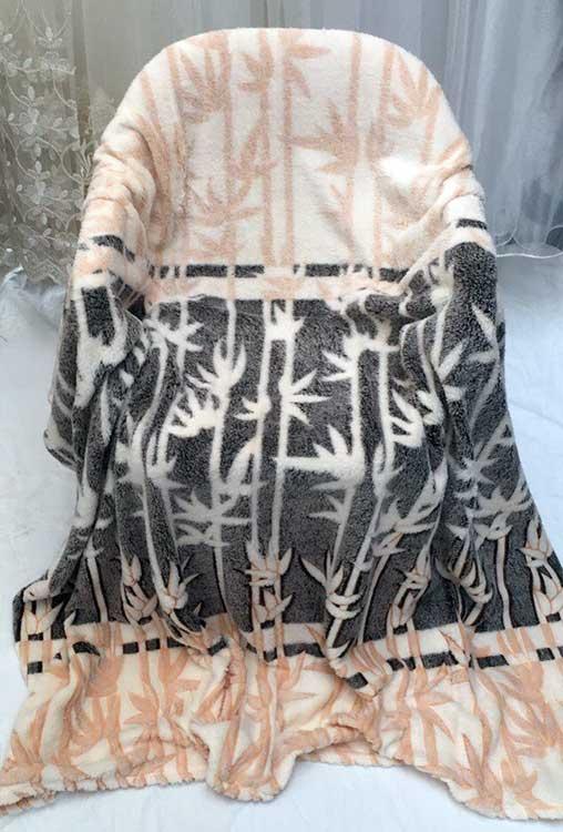 Плед флисовый Бамбуковые веточки