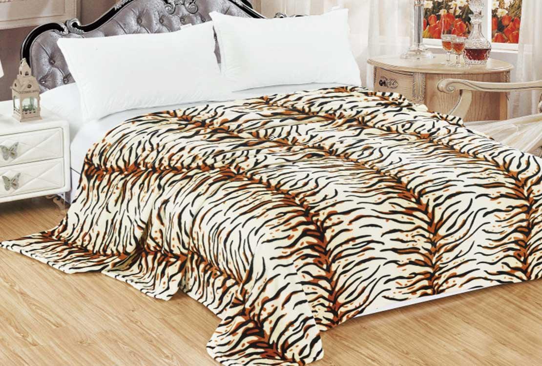Плед флисовый Тигровый