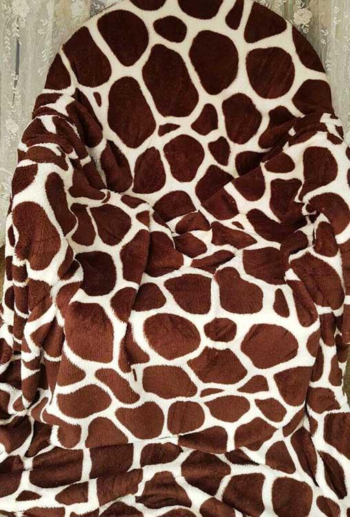 Плед флисовый Жираф