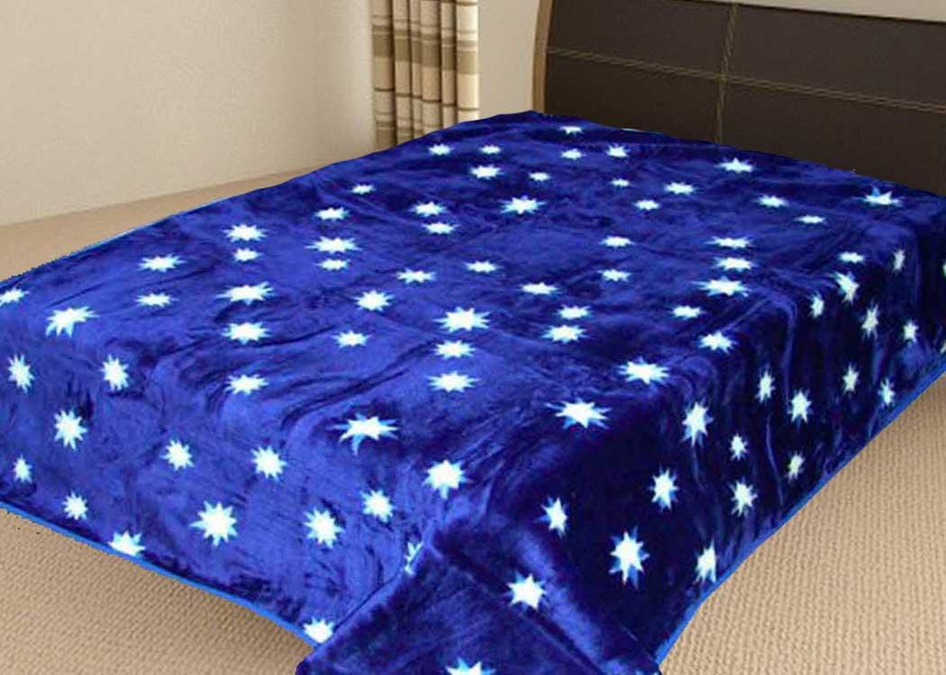 Плед Tamerlan ворсовой корал-флис Звезды