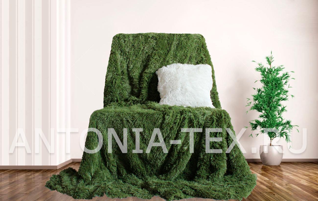 Пушистый плед-травка с длинным ворсом Лиора (Травяной)