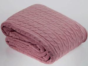 Плед вязаный KENZO грязно-розовый