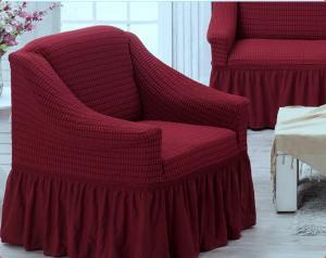 Чехол на трехместный диван и 2 кресла Juanna Бордовый