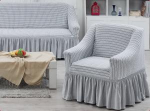 Чехол на трехместный диван и 2 кресла Juanna Серый