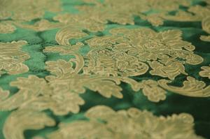 Комплект шторы с покрывалом Изумруд