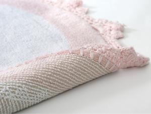 Коврик для ванной Irya Doreen Pembe/Beyaz розовый/белый