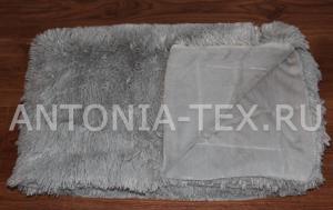 Пушистый плед-травка с длинным ворсом Лиора (Серый)