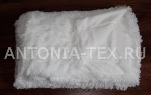 Пушистый плед-травка с длинным ворсом Лиора (Белый)