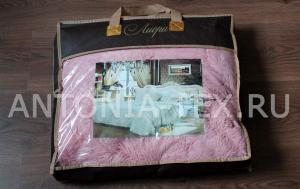 Пушистый плед-травка с длинным ворсом Лиора (Бледно-розовый)