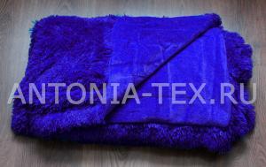 Пушистый плед-травка с длинным ворсом Лиора (Сине-фиолетовый)