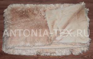 Пушистый плед-травка с длинным ворсом Лиора (Бежевый)