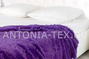 Плед-травка с длинным ворсом Фиолетовый