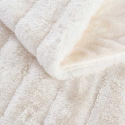 Меховой плед-покрывало Шиншилла Молочный
