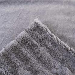 Меховой плед-покрывало Шиншилла Серый