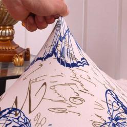 Чехол на стул эластичный с рисунком без оборкиАнтониа
