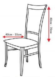 Чехол на стул эластичный с рисунком без оборки Ирен