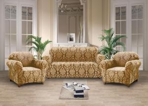 Чехлы на диван и кресла жаккард-стрейч без оборки Бежевый