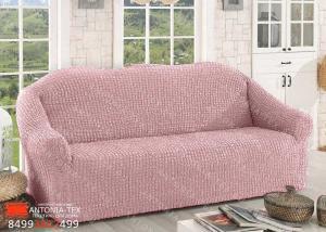 Чехол на диван без оборки Пудра